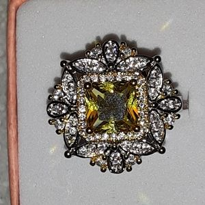 Jewelry - Sterling silver citrine ring size 5 and 1/2